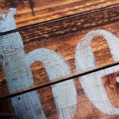 Use instant coffee as natural wood dye for your wooden vintage sign projects.