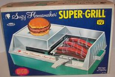 Suzy Homemaker Super Grill. My parents wouldn't buy me the easy bake oven, so they got me this instead! They were afraid of me burning down the house with the oven, but I don't know...grilling slabs of bacon and all that runny fat??
