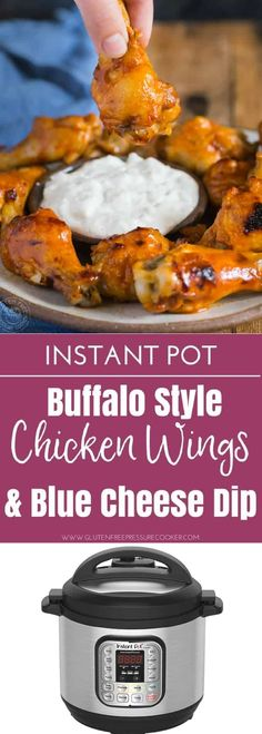 Instapot buffalo style chicken wings