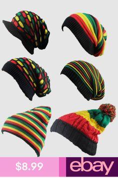 e75d7b83cb733 Bob Marley Reggae Hat Jamaican Pom Slouch Baggy Beanie Stripe Brim Visor Cap  New