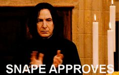 Snape approves GIF  - Sugarscape.com