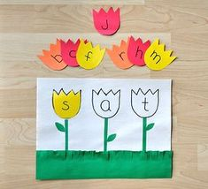 Spring Preschool Activities but with their names would work too. Too many ideas too little time!