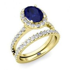 Pave Engagement Rings With Sapphires 15