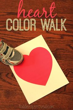 Toddler Approved!: Heart Color Walk- A Game for Kids
