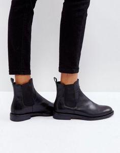 Vagabond Amina Black Leather Chelsea Boots