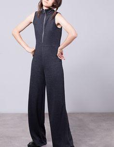 Ολόσωμη φόρμα τύπου culotte με φερμουάρ - ΟΛΟΣΩΜΕΣ ΦΟΡΜΕΣ - Γυναικείες…