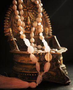108 Anahata Mala Heart Chakra Morganite Rose Quartz by DakiniUK