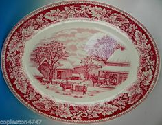 15.75 in long Currier & Ives fabulous winter scene!!! So perrrrrrrrrfect for Christmas holidays buffet meals!!!!!  *** LOVE this one too!!!