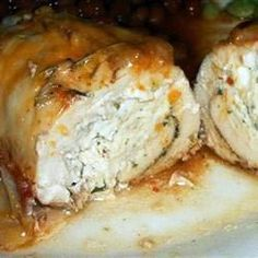 Cream Cheese, Garlic, and Chive Stuffed Chicken - easy, simple and delicious