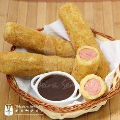 Salsichas Empanadas na AirFryer | Fritadeira sem Óleo - AirFryer