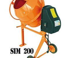 Bétonnière SIM200 200L 800W 230V mixer cement construction: BÉTONNIÈRE ELECTRIC SIMBA SIM 200 SIM 200 200L 850W 230V nouvelle Bétonnière…
