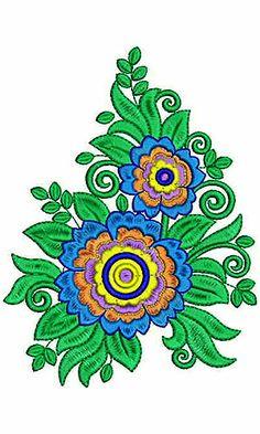 Designer Scarf Embroidery Design