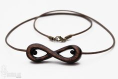 Infinity Symbol Necklace   Infinity Jewelry  Hand Carved