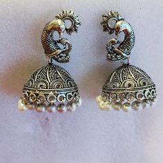 Antique Oxidized Earring - BONYHUB
