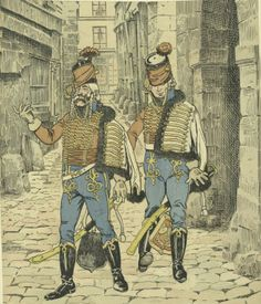 Hussars on leave, 1793, by Job