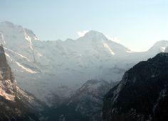 Looking from Wengen, Switzerland; Eiger is on the left. Wengen Switzerland, See Again, Seize The Days, Luxury Travel, Adventure Travel, Places Ive Been, Mount Everest, Coins, Switzerland