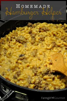 Homemade Hamburger Helper via FarmgirlGourmet.com made 7-16 I may have added too much red pepper and cayenne pepper little spicy.  good will make again. sf