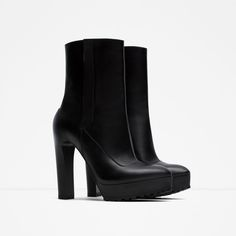 HIGH HEEL LEATHER ANKLE BOOTS-View all-Shoes-WOMAN | ZARA United States