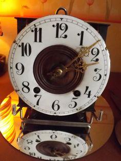 mécanisme de carillon émaillé cage fer fin 19eme
