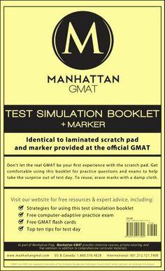 Manhattan GMAT Test Simulation Booklet W Marker By 1271 Publication