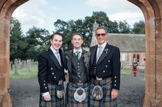 Traditional Scottish Kilt Wedding Attire - Image by Lisa Devine Photography - Bride in high street Phase Eight Dress & Kurt Geiger Shoes for a bright wedding in a barn with lots of DIY crafting & picnic basket hampers