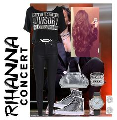 """""""Rihanna concert"""" by chloe-keelana ❤ liked on Polyvore featuring Supra, NIKE, NLY Accessories, Henri Bendel and River Island"""