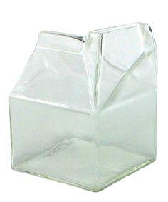 Glass Milk Carton - Clear
