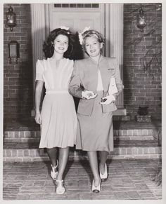 1944 Shirley Temple & Claudette Colbert in Since You Went Away photo