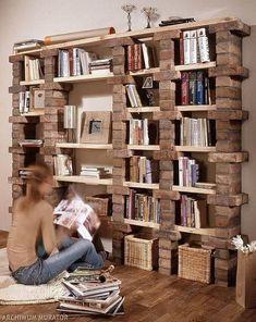 39 casual bookshelf design ideas to decorate your room .- 39 casual bookshelf design ideas to decorate your room # bookcase - Diy Bookshelf Design, Bookshelf Ideas, Bookshelf Decorating, Cheap Bookshelves, Decorating Ideas, Homemade Bookshelves, Decor Ideas, Diy Ideas, Bookcases