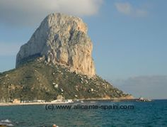 Calpe, Spain...I actually got to climb this rock called the pennon de ifach. Amazing!