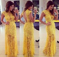 f1cb40e4e Vestidos para madrinhas de casamento amarelos. Vestido De Festa ...