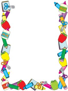 Printable Preschool Border Frame Printable A Clip Art Birthday With Preschool Border Frame Printable A Clip Art Birthday Cards For Kids Boarder Designs, Page Borders Design, Borders For Paper, Borders And Frames, School Border, School Frame, School Items, Paper Frames, Printing Labels