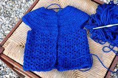 Crocheted Cardigan for little girls