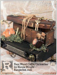 Faux Wood Coffin Curiosities by Nicole Wright | www.rangerink.com