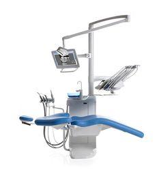 Unité de soin dentaire avec fauteuil électrique / avec porte-instrument / avec…