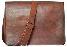 It is a Full Flap Leather messenger bag is with a flap on front in dark brown colour. Beautifully made by the best craftsmen with pure genuine leather.  Very suitable to carry laptop or Mac-book with your daily stencils. Enough space to carry all your important thing with you,It have a long adjustable strap with which you can carry it on your shoulder.  You can carry it everywhere whether you go to office or college or any kind of meeting.   Buy now from: http://www.amazon.co.uk/dp/B013GUSKY