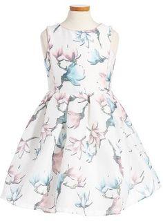 Girl's Pippa & Julie Floral Print Sleeveless Dress