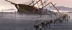 The Shipwreck by artcobain on DeviantArt Pirates Cove, Image Painting, Speed Paint, Shipwreck, Sailing Ships, Pond, Concept Art, Deviantart, Digital