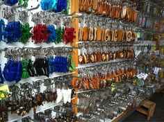 Aloha Stadium Swap Meet - Keychains, keychains, and more keychains