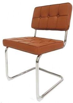 Eetkamerstoelen : Bauhaus chair cognac