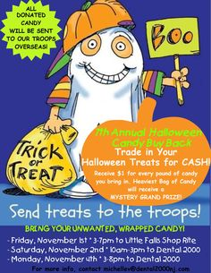 Team Dental 2000 is super excited about Operation Candy Buy Back this year! Further information coming soon! #dental2000nj