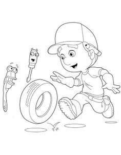 Handy Manny With Felipe And Rusty Coloring Pages