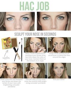 Highlight and Contouring your nose
