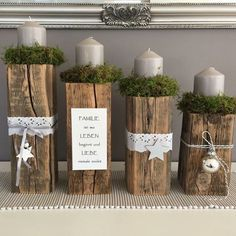 Simple And Popular Christmas Decorations; Christmas Decor DIY dekoration wohnung Simple And Popular Christmas Decorations Noel Christmas, Rustic Christmas, Christmas Themes, Christmas Crafts, Christmas Ornaments, Holiday Decor, Centerpiece Christmas, Christmas Candles, Xmas Decorations