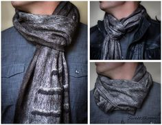 Wool man's scarf