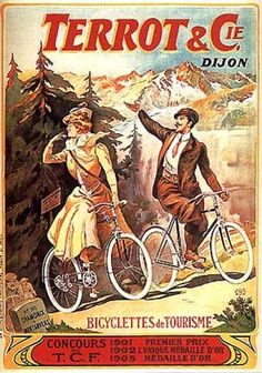Terrot vintage advertising poster by Tamagno (1906)