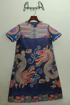 Batik featuring dragons