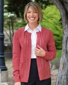 National Classic Cardigan Sweater, Petites National. $29.95