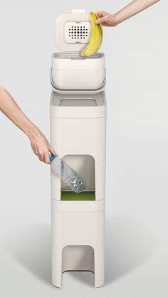 an intuitive and comprehensive approach to waste management that enables flexibility for organizing waste and recycling within the home.