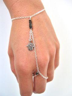diamond hamsa slave bracelet